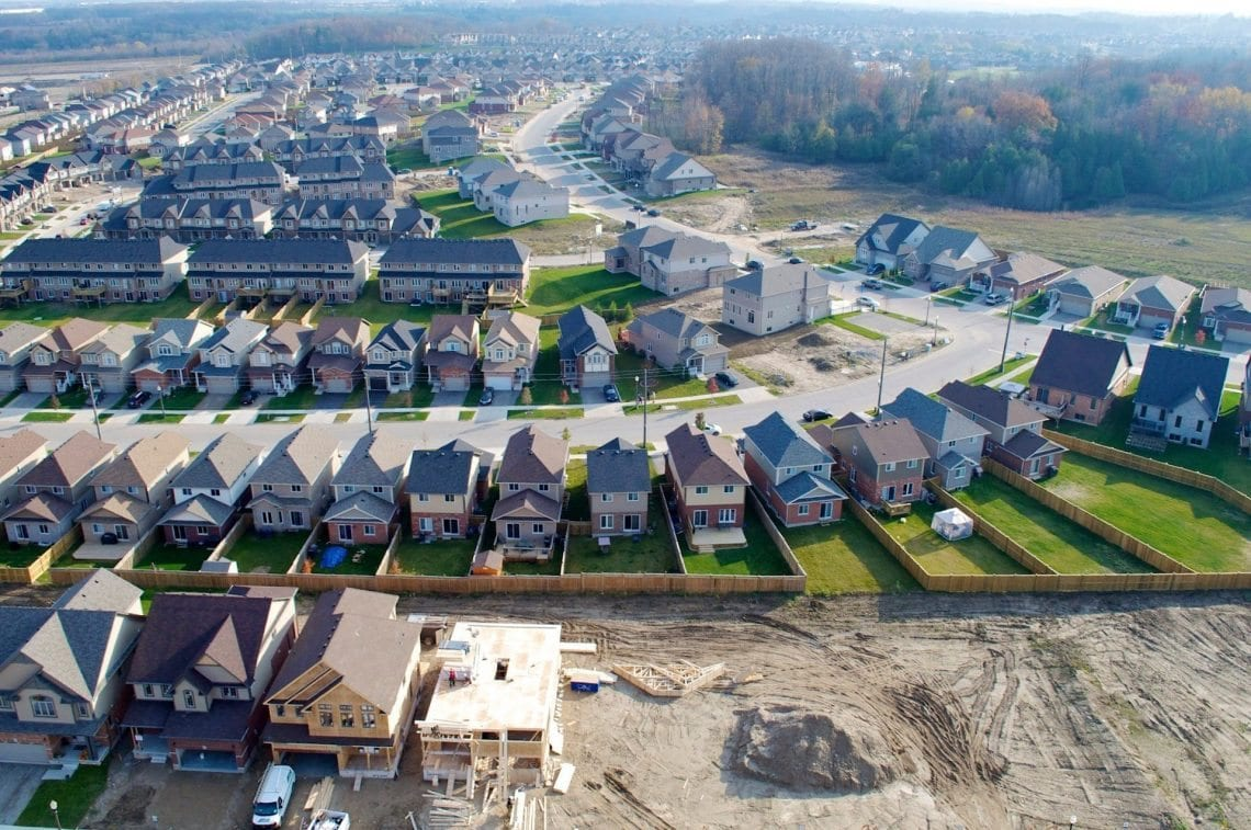 drone photography of development